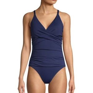 Tommy Bahama Cross Front One-Piece Swimsuit S 16